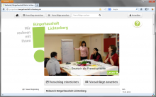 Screenshot neue Internetseite